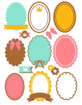 Cute Vintage Border  Stock Vector - 19975988