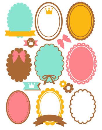 baby stickers: Cute Vintage Border
