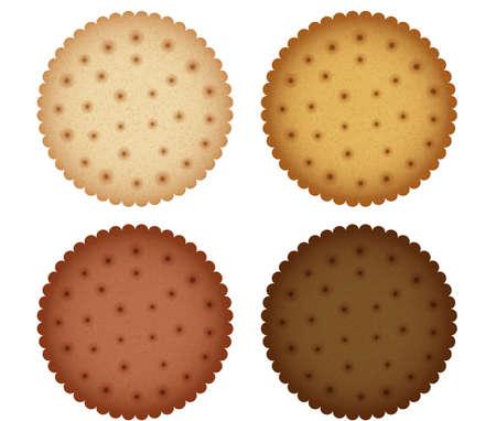 galletas integrales: Galletas Cracker Colecci�n Cookies Vectores