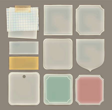 sheer: Transparent paper label in various shape , ready for your message