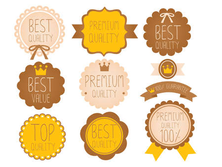 cute border: Set of Premium and High Quality labels