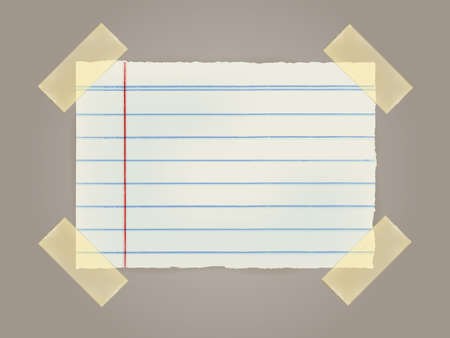 Note Papers with a sticky tape stuck to the wall  Stock Vector - 20200802