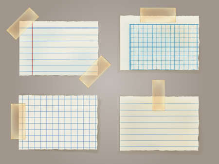 post it note: Note Papers with a sticky tape stuck to the wall