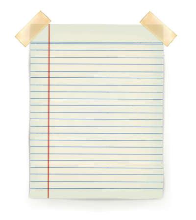 Opmerking Papers met plakband vast aan de muur