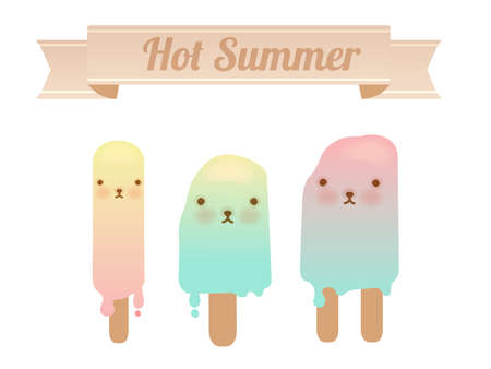 Melting Ice Cream Collection  Vector