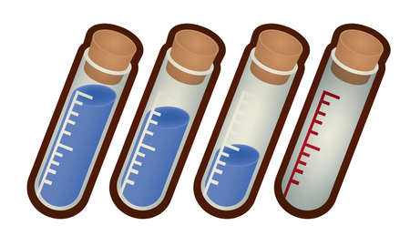 Collection of laboratory test tube  Stock Vector - 20688658