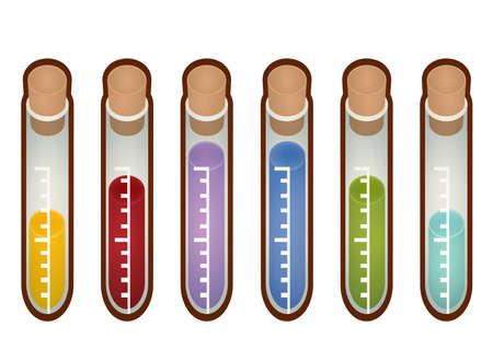 Collectie van het laboratorium reageerbuis