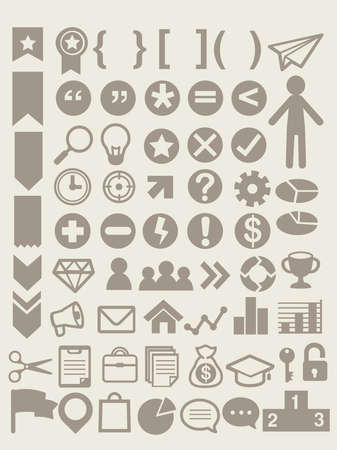 Set of adaptable elements info graphics  Vector