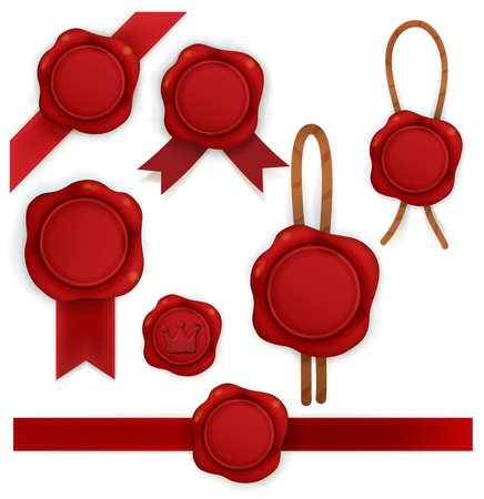 sealing wax: Collection of red sealing wax
