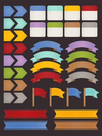 gagant: Ensemble de adaptables �l�ments infographies Illustration