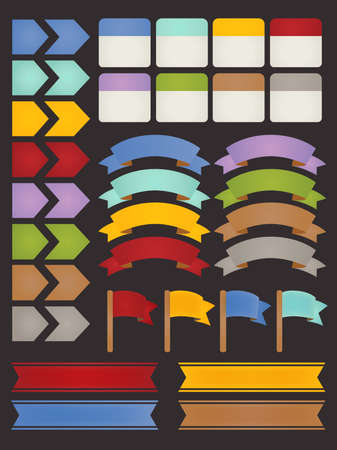 Set of adaptable elements info graphics  Vector