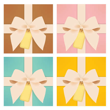 Cute gift box   Stock Vector - 20892889