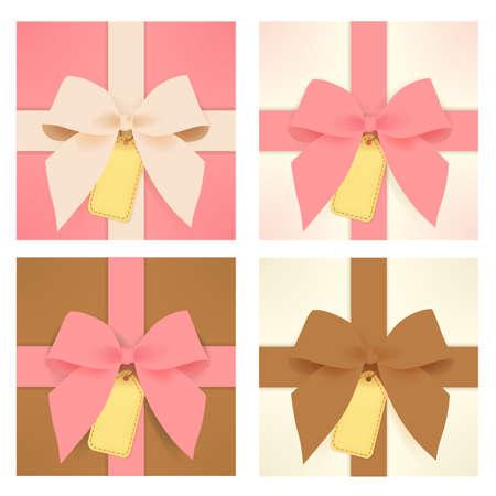 wedding backdrop: Cute gift box  Illustration