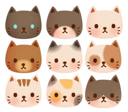 gato caricatura: Colección de gato lindo