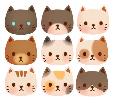 cartoon cat: Collection of Cute Cat