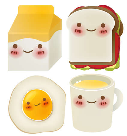 egg cups: Set of Lovely Breakfast