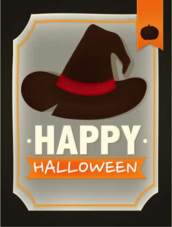 Happy halloween card - Vector File