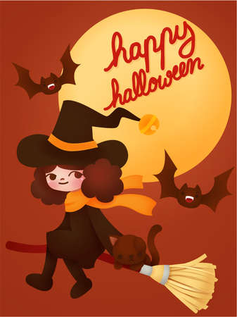 Happy halloween card Stock Vector - 22111785
