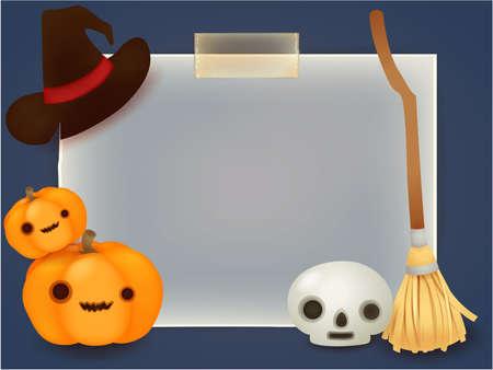 comic baby: Halloween Background Illustration