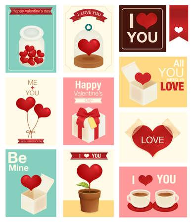 Valentine Wedding card  Vector