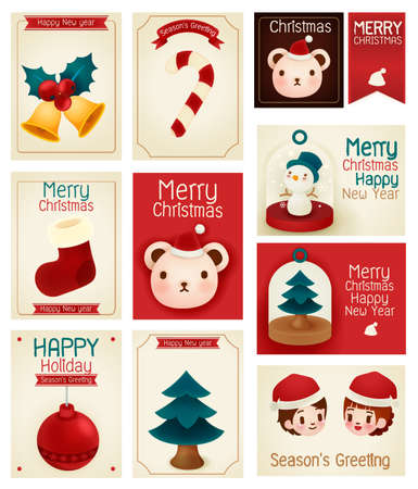 season greeting card  Vector