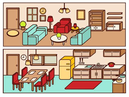 kitchen furniture: Set of Adjustable Interior Furniture Design