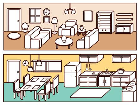 daybed: Set of Adjustable Interior Furniture Design