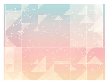 constelaciones: Cielo estrellado abstracto, constelaciones mínimos