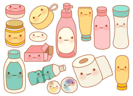 Set of Cute Rubbish  Illustration