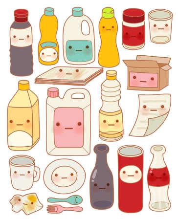 sweet sauce: Set of Cute Rubbish