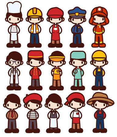 Character Cartoon in Various Job  Vector file EPS10 Vectores
