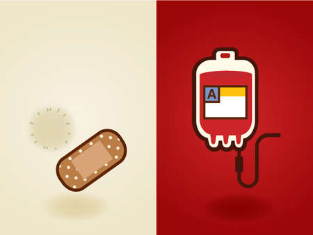 donating: Blood Donation , medical , health care , heal, cure icon infographic in flat design style - Vector file EPS10