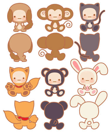 kitty: Collection of Cute rabbit - Vector File EPS10 Illustration