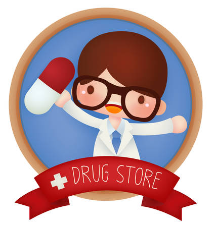 Adorable Drug Store banner - Vector file EPS10 Vector