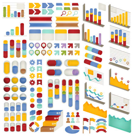 Set of Adjustable Infographics , Icon , Charts, Diagrams elements for data and statistics Design Templates - Vector file EPS10 Vector
