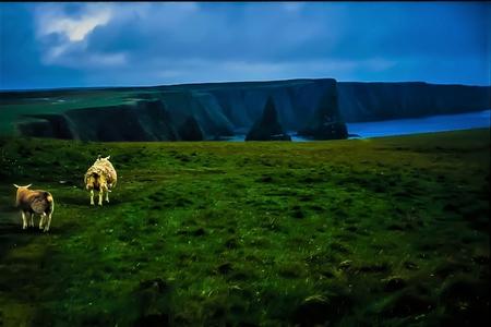 Coastal View - Orkney Island - Scotland Stock Photo