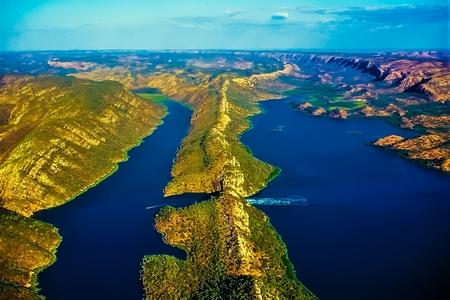 Scenic Coastal Flight View - Horizontal Falls - Talbot Bay - Kimberley - Western Australia