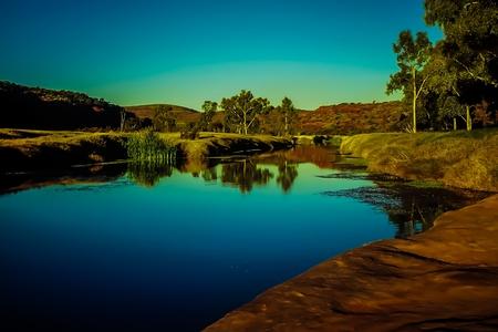 Quite Oasis in Desert - Finke Gorge National Park - Northern Territory - Australia