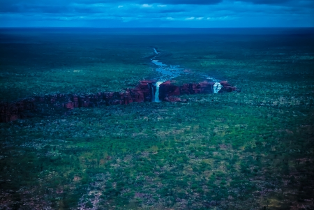Aerial View of the Wilderness - King George Falls - Kimberley - Western Australia