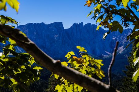 Mountains Landscape - Catinaccio - Dolomites - Italy Banco de Imagens
