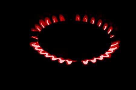 Burner lighted with a flickering flame 免版税图像