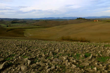 Landscape of Tuscan coutryside in Autumn - Tuscany - Italy Banque d'images
