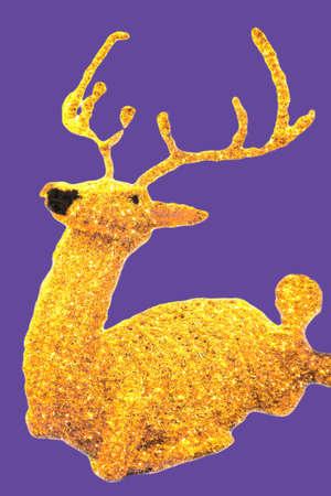 Stuffed animal looking a Christmas reindeer