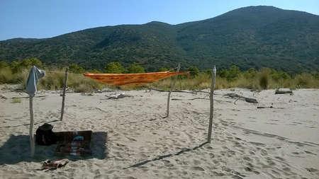 Shadow in a sunny beach - Maremma Regional Park - Tuscany - Italy
