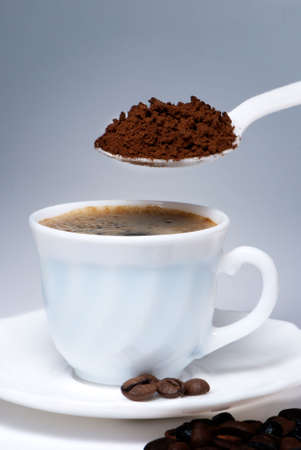 coffee hour: Spoon and Cup of coffee
