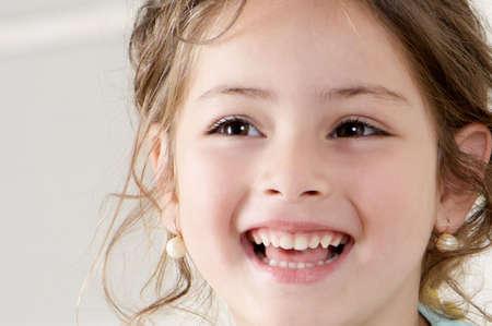 Happy little girl. Portret