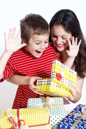 Happy family with a gifts Stock Photo - 5465861