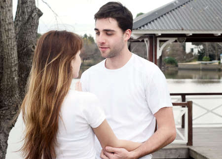 Loving young couple, beautiful and happy Stock Photo - 5465809