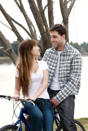 Loving young couple, beautiful and happy Stock Photo - 5465814