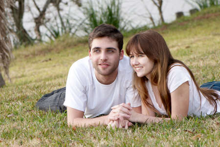 Loving young couple, beautiful and happy Stock Photo - 5465884